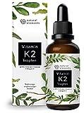 Vitamin K2 MK-7 200µg - 1700 Tropfen (50ml) - All-Trans Gehalt 99,7+% (K2VITAL® von Kappa) - Laborgeprüft, vegan, hochdosiert