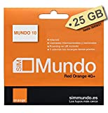 Orange Spanien - 25 GB Prepaid-SIM-Karte in Spanien | 5€ Guthaben | 50 Minuten nach Deutschland telefonieren | Unbegrenzte Inlandsgespräche | Freischaltung nur unter www.marcopolomobile.com |