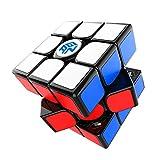 GAN 11 M Pro, 3x3 Magnetwürfel, Stickered Cube Magischer Spielzeug Puzzle Aufkleber Würfel (Schwarz Intern)