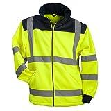 URG Fleece Warnjacke Winterjacke Warnschutzjacke Arbeitsjacke Gelb (POL-HSV-Y) (2XL)