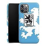 DeinDesign Premium Case kompatibel mit Apple iPhone 12 Pro Max Smartphone Handyhülle Hülle glänzend TSV 1860 München Offizielles Lizenzprodukt Wapp