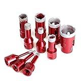 Shenyitool 6/8/10/12/14/16/20/25/28/35-mm-M14 Diamant Opener Bohrkern Bits Drilling Lochsäge Werkzeuge for Fliesen Marmor Granit Stein Werkzeug (Color : Red, Size : Round)