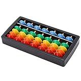 Tumnea Abakus Rechenschieber Mini-Holzzählrahmen Abakus, zum Zählen und Rechnen, hochwertige Qualität, Regenbogenfarben und Schlichtes Design für Kinder Lernen Pädagogische