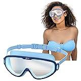 Taucherbrille Erwachsene, Schnorchelbrille Schwimmbrille Tauchmaske, Wasserdicht, Lecksicher, UV Schutz, Verstellbares Silikonband, Schnorcheln Enthusiasten Beste Wahl