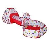 KUANDARMX Sicherheit Kinderspielzelt mit Tunnel Bällezelt Bällebad Kinderzelt Spielzelt mit Tasche für drinnen und draußen Bällezelte Bälle Zelte Zelte Sanft, B