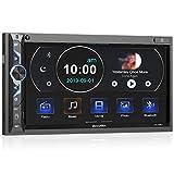 7 Zoll Doppel-DIN Digital Media Autoradio-Empfänger, aboutBit Bluetooth 5.0 Touchscreen Autoradio MP5-Player, unterstützt Rück- / Frontkamera, AM/FM / MP3 / USB/Subwoofer, AUX-Eingang, Mirror Link