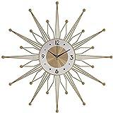 DZCGTP Wanduhr Metall Wanduhr, Modeuhr im Wohnzimmer, Home Creative Clock, Home Decoration Wanduhr