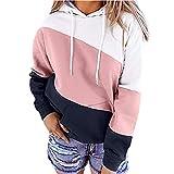 BFSGBFNTMD Herbst und Winter Außenhandel Plus Size Splicing Color Sweater Damen Europäische und Amerikanische Herbst und Winter Neue Langarm-All-Match-Bluse