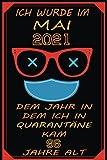 MAI 2021 Mein 96 Geburtstag Feiern Unter Quarantäne: 96 geburtstag Geschenkideen Für - Männer - Papa - Mama | Lustige Geschenkidee| Notizbuch A5