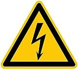 LEMAX® Schild Warnung vor gefährlicher elektrischer Spannung gemäß DIN ISO 7010 Alu 10 cm (Lebensgefahr Strom, Warnschild) w