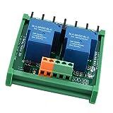 Mogzank 12V 2 KannLe 30A Trigger Relais Modul mit Hohem und Niedrigem Pegel Haus PLC Automation Control
