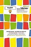 mindmemo Vokabel Sticker - Grundwortschatz Spanisch / Deutsch - 280 Vokabel Aufkleber für Kinder und Erwachsene Spanisch lernen leicht gemacht ... Lernen ganz einfach - 3D Lernhilfe