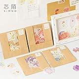 BLOUR Neues ausgewachsenes Blumentagebuch Papieraufkleber Scrapbooking Dekorationsetikett 1 Los = 16 Packungen Großhandel