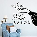Nagel Salon Vinyl Wandaufkleber Beauty Salon Home Decoration Friseur Dekoration Dekoration Home Wallpaper Aufkleber 30x32cm