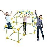 JAWSEU DIY Kinderzelt Spielzeug, Kids Fort Baukasten DIY Bauspielzeug Zelt Spielzeug, Kids Fort Baukasten Geschenk für Kinder Jungen Mädchen