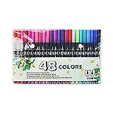 Pinselstifte mit Doppelspitze, 48 Farben, Filzstifte, Kunstmarker, Fineliner für Erwachsene und Kinder, zum Zeichnen, Skizzieren, Malen, Kalligraphie, Malbücher