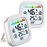 infactory Hydrometer: 2er Pack Digitales Hygrometer und Thermometer mit Trendanzeige
