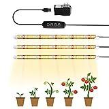 TOPLANET Led Pflanzenlampe, Pflanzenlicht Röhre T5 LED Pflanzenlicht Vollspektrum mit Gelb Rot Weiß Licht, Pflanzenleuchte mit Auto Timer, 3 Beleuchtungsmodi Grow Led Lampe für Zimmerpflanzen (3 in 1)