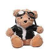 SDSG Khaki Lammfell Teddy Brille Bär Cartoon Bag Baby Plüsch Rucksack Für Kinder Geschenk
