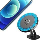 Quarble Magnetische KFZ-Halterung, kompatibel mit MagSafe Hülle und iPhone 12 Pro Max Mini, 360 ° verstellbare Handyhalterung für Armaturenbrett, keine Metallplatte erforderlich.