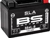 Motorradbatterie BS SLA BB4L-B (YB4L-B) AGM Wartungsfrei - 12 V 4 Ah - Maße: 120 x 70 x 92 mm kompatibel mit Aprilia SR50 de 50