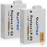 Blumax 2X Gold Edition Akku ersetzt Canon LP-E8 kompatibel mit Canon EOS 550D 600D 650D 700D 1260mAh 7,4V 9,3Wh