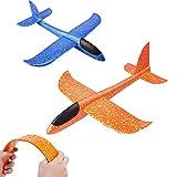 2 Stück Styroporflieger Flugzeug,Kinder Flugzeug Spielzeug Outdoor Wurf Segelflugzeug Glider Manuelles Werfen Schaum Fliegen Modell Spielgeräte Geschenk für Jungen Jungs Junge Mädchen Kindergeburtstag