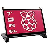 EVICIV 7' Touchscreen-Monitor für Raspberry Pi - 1024X600 HD-Spielemonitor mit integrierten Dual-Lautsprechern für Raspberry Pi 4 3 2 Zero B + Modell B Xbox PS4 iOS Windows 7/8/10
