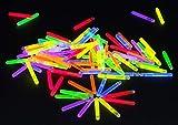 50 Mini-Knicklichter 38 x 4,5 mm 6-Farben-Mix zum Angeln oder als Tisch-Deko