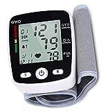 SMSOM Aneroid Blutdruckmessgerät, LCD-Handgelenk-Blutdruck-Monitor Herzfrequenz Pulse MeterAccurate automatische Digital-BP-Maschine for Heim