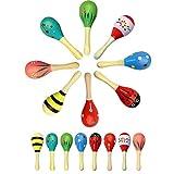 Sinnes Spielzeug for Baby Baby-Geklapper-Baby-Sinnes Spielzeug Kleinkind Xylophone Instrumente Babymusikalspielzeug Holz-Sand-Hammer Babylausch- Training Glocken zcaqtajro