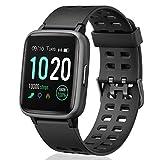 FITFORT Smartwatch,Fitness Watch Uhr Voller Touch Screen Fitness Uhr IP68 Wasserdicht Fitness Tracker Sportuhr mit Schrittzähler Pulsuhren Stoppuhr für Damen Herren Smart Watch für iOS Android Handy