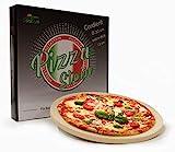 osoltus Profi Pizzastein Cordierit rund 30cm x 1,5cm für Knusperp