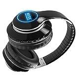 Wsaman Professionelle DJ Headphones, Kopfhoerer Bluetooth Kabellos Faltbar Noise Cancelling Kopfhörer Leichte für Smartphone/PC/TV Memory-Protein Ohrpolster,Rot
