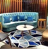 Nordic Fashion Geometrischer Teppich Wohnzimmer Matten 3D Weltkarte Kinder Schlafzimmer Stuhl Runde Badematte