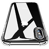 CANSHN Clear für iPhone XS Hülle/iPhone X Hülle, Hochwertig Transparent Weiche Durchsichtig Dünn Handyhülle mit TPU Stoßfest Fallschutz Bumper Case Cover für iPhone XS/X 5.8''