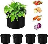 ZHJIUXINGBT Potato Grow Bags, 5er Pack 5 Gallonen Plant Growing Bags, Griffe Garden Vegetable Growing Bags Mit Klappe Und Griffen