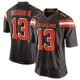 Outdoor American Football Rugby Trikots Odell Browns Jr #13 Braun, Cleveland Beckham Spieltrikot Wiederholbares Reinigungstraining Shirt für Herren