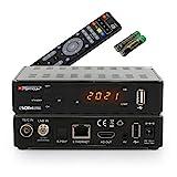 RED OPTICUM Sloth Combo Plus Mini I DVB-C DVB-T2 & DVB-S2 Receiver mit Aufnahmefunktion PVR I Kombi-Receiver HD mit LED Display - HDMI - S/PDIF - Ethernet - USB - IR Sensor - 12V Netzteil