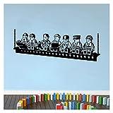 YSJJDRT Wandsticker Cartoon Roboter Lego Wandaufkleber Vinyl Wandaufkleber für Kinderzimmer Jungen Zimmer Wandkunst Decals Baby Schlafzimmer Zubehör (Farbe: Kaffee, Größe: M 90 x 34 cm)