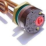 Heizelemen mit Thermostat 1 1/4' 5/4' 3kW NEU Sicherheitsthermostat SOLAR Warmwasserspeicher Boiler RECO