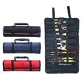 Wuyuesun. Neue Multifunktions-Oxford-Tuch Folding Schlüssel Tasche Werkzeugrolle Lagerung beweglicher Kasten-Organisator-Halter-Taschen-Werkzeug-Beutel (Color : Red)