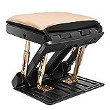 KOSIEJINN Verstellbare Fußstütze 4 Höhen Fußauflage mit Einstellbare Winkelneigung Plattform für Bessere Haltung und Entspannender Fuß Klappbare Fußstütze für Büro, Zuhause,Auto,unter Schreibtisch,Zug