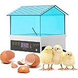 NOBUNO Ei Inkubator, digitaler Inkubator Brüter, 4 Eier Automatische Eier Inkubator mit Temperaturanzeige Panel für Hühnchen Ente Bird Waag