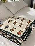 AZSOGOOD Reine Baumwolle Komfortable Sommerdecke, Langstämmert Baumwolle Kinderkarikaturdruck Baumwolle Maschinenwaschbare Sommerdecke Klimatisierungsdecke-M_120x150 cm.
