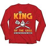lepni.me Herren T Shirts König des Grills Meister BBQ Chef Der Mann Der Mythos Die Legende (L Rot Mehrfarben)