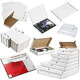 Weißer PIP-Karton Großbriefkasten Amazon Ebay Online Seller Royal Mail Friendly (C6 (166 x 114 x 24 mm), 5 Stück