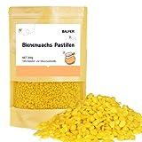 BALFER 100% Reine Bienenwachs Pastillen Bio 300g, für Kosmetik, Kerzen, Cremes, Salben, Seifen, Bienenwachstücher, Kerzenherstellung und Leder-/Holzpflege, Granulat Gelb