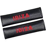 AMPTRV Gurtpolster Auto für Seat Ibiza, Kohlefaser Komfortable atmungsaktive Weicher Sicherheitsgurt-Polsterbezug Schultergurt-spolster Innenausstattung