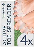Zehenspreizer Silikon für alle Zehen [4x], DERMATEST: SEHR GUT, 2 Härtegrade, 0% BPA, Universalgröße - verbessertes Soft Gel Silikon, Zehentrenner, Ebook